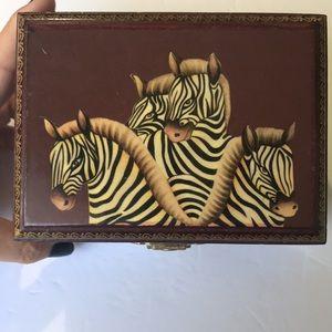 Zebra jewelry box